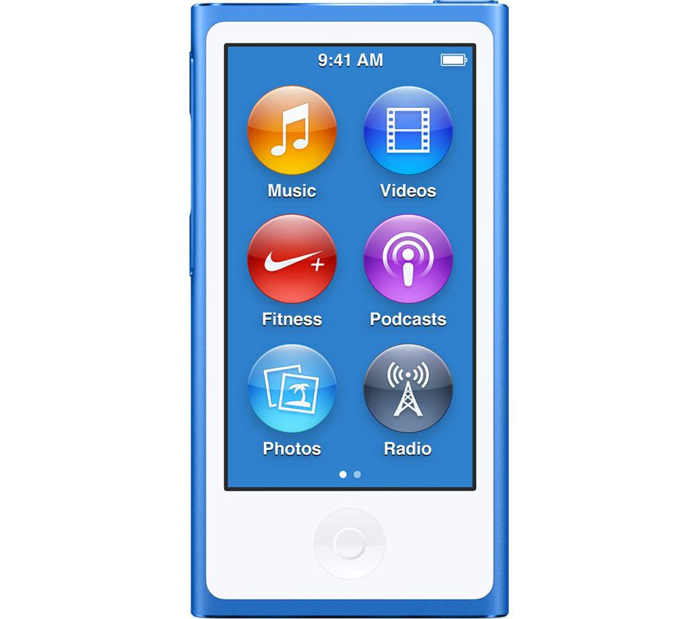 Image of APPLE iPod nano - 16 GB, 7th Generation, Blue, Blue