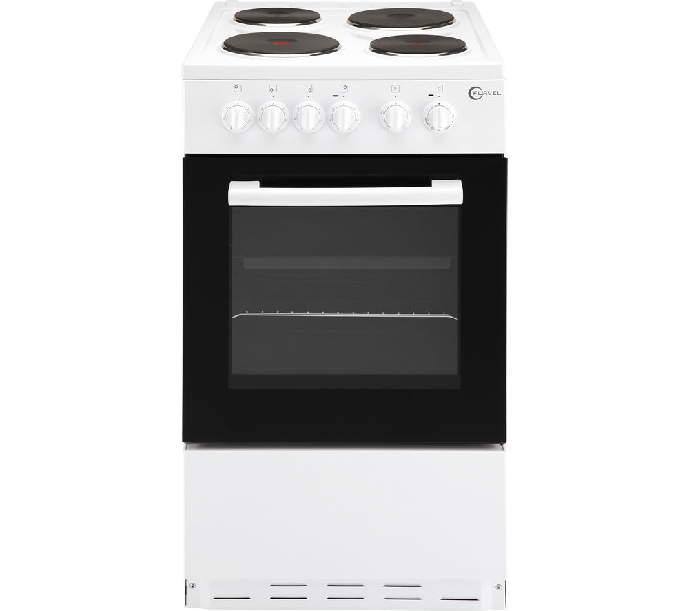 Image of FLAVEL FSBE50W 50 cm Electric Cooker - White, White