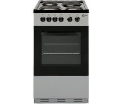 FLAVEL FSBE50S 50 cm Electric Solid Plate Cooker - Silver & Black