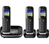 PANASONIC KX-TGJ323EB Cordless Phone with Answering Machine - Triple Handset