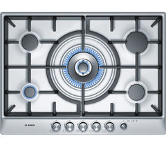 BOSCH Exxcel PCR715M90E Gas Hob - Brushed Steel
