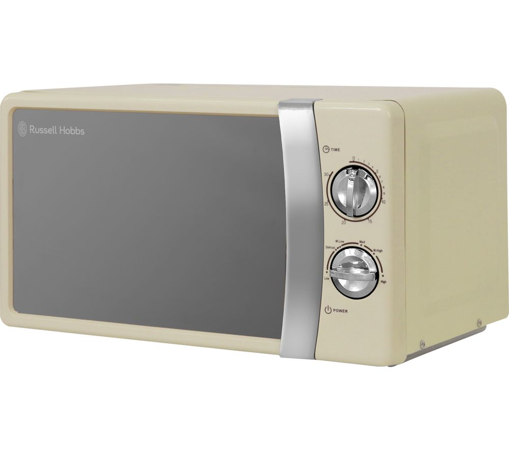 RUSSELL HOBBS RHMM701C Compact Solo Microwave - Cream