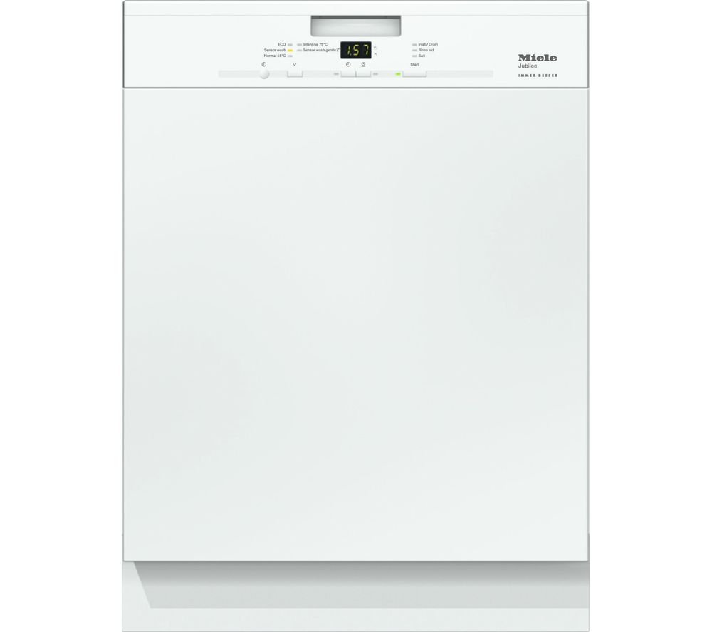 Image of MIELE G4940I Full-size Semi-integrated Dishwasher - White, White