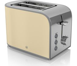 SWAN Retro ST17020CN 2-Slice Toaster - Cream