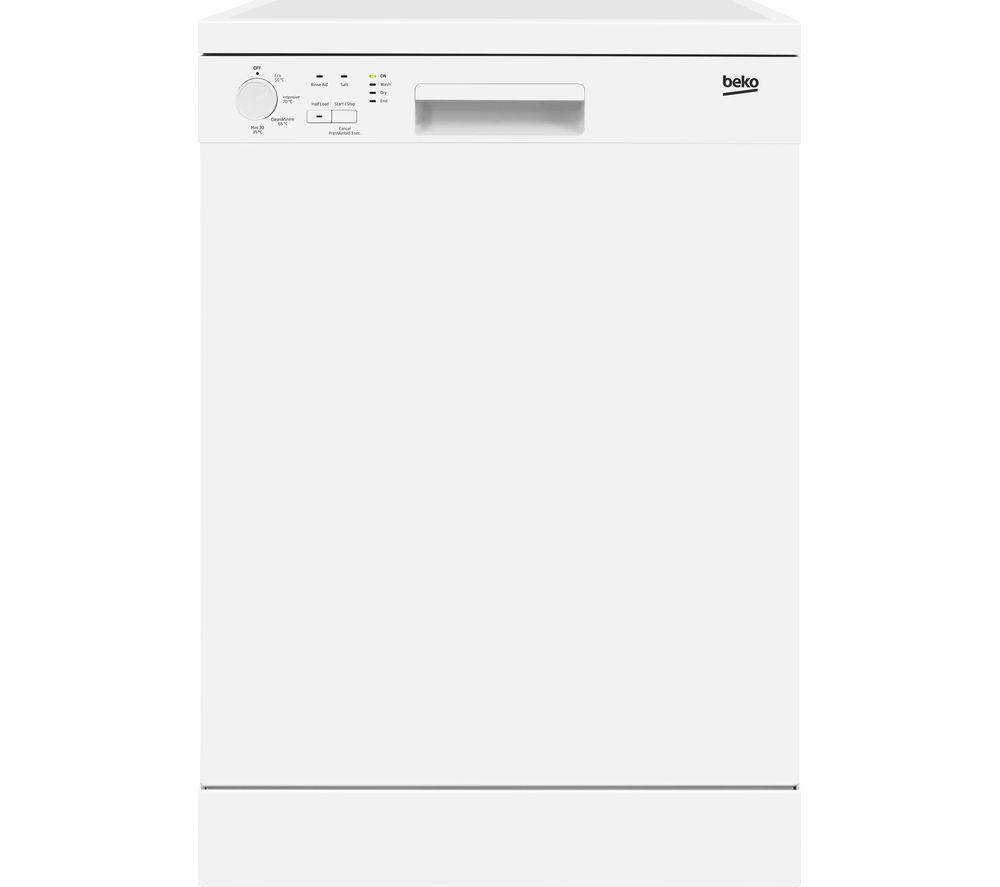BEKO DFN04210W Fullsize Dishwasher  White White