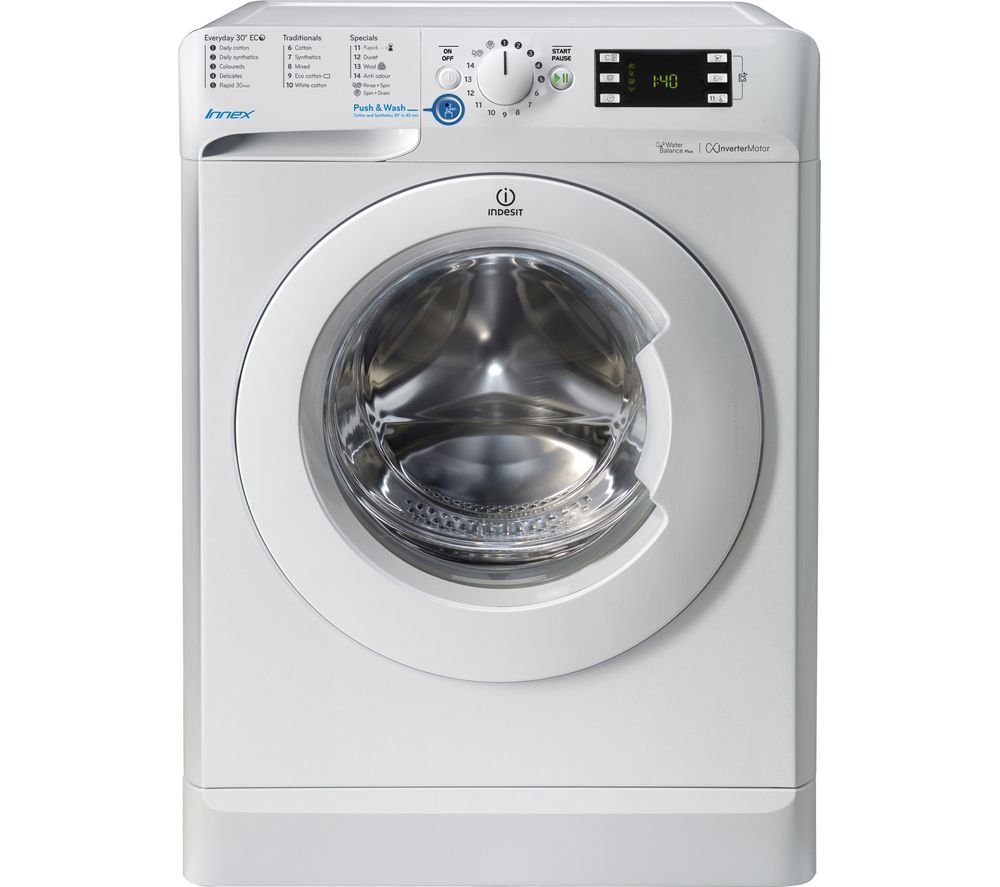 buy indesit innex bwe 71453 w 7 kg 1400 spin washing. Black Bedroom Furniture Sets. Home Design Ideas