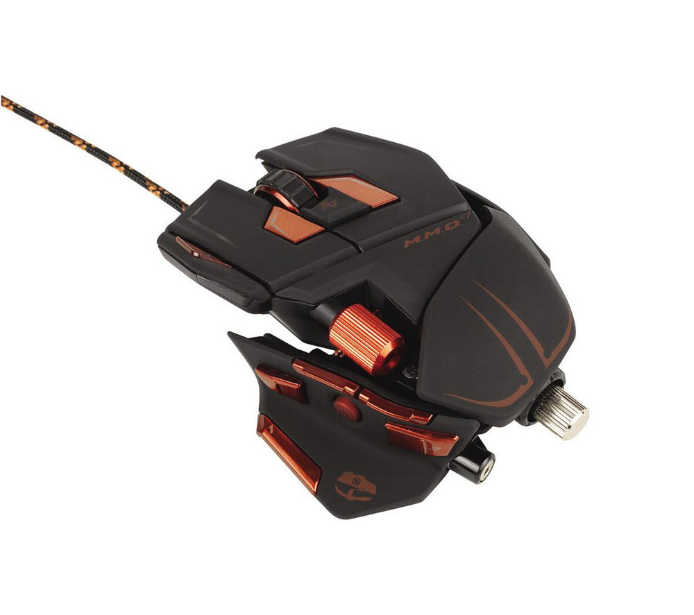 MAD CATZ M.M.O. 7 Laser Gaming Mouse - Black & Orange