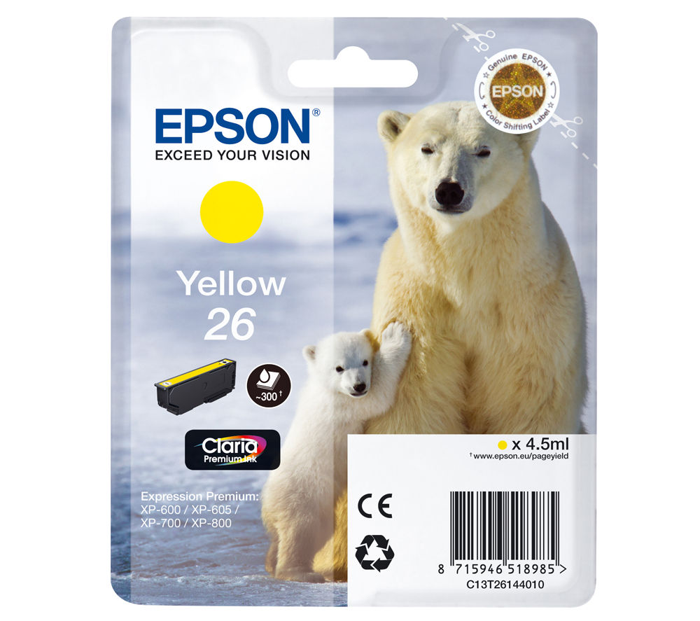 EPSON Polar Bear T2614 Yellow Ink Cartridge