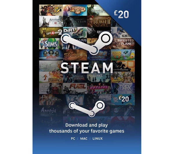 20$ steam gift cards free