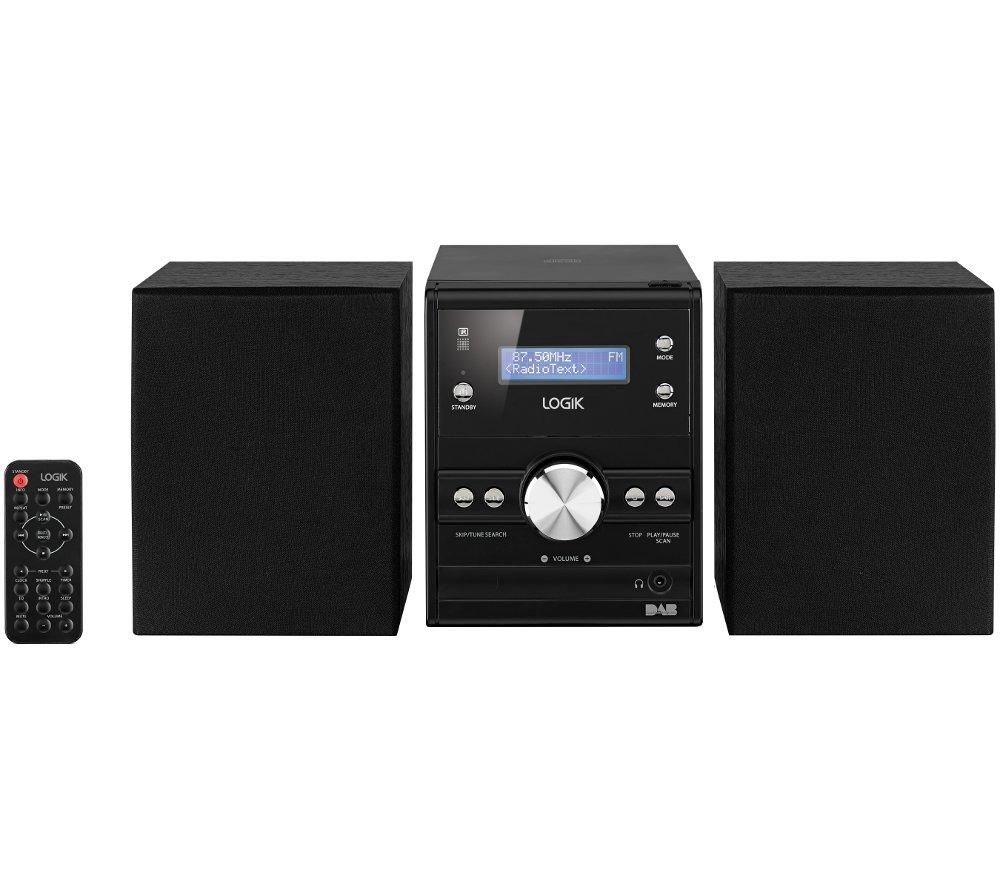 Click to view more of LOGIK  LHFDAB14 Traditional Hi-Fi System, Black