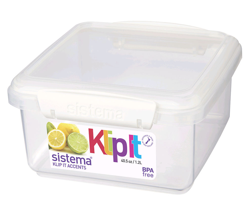 SISTEMA Lunch Plus Accents Square 1.2-litre Box