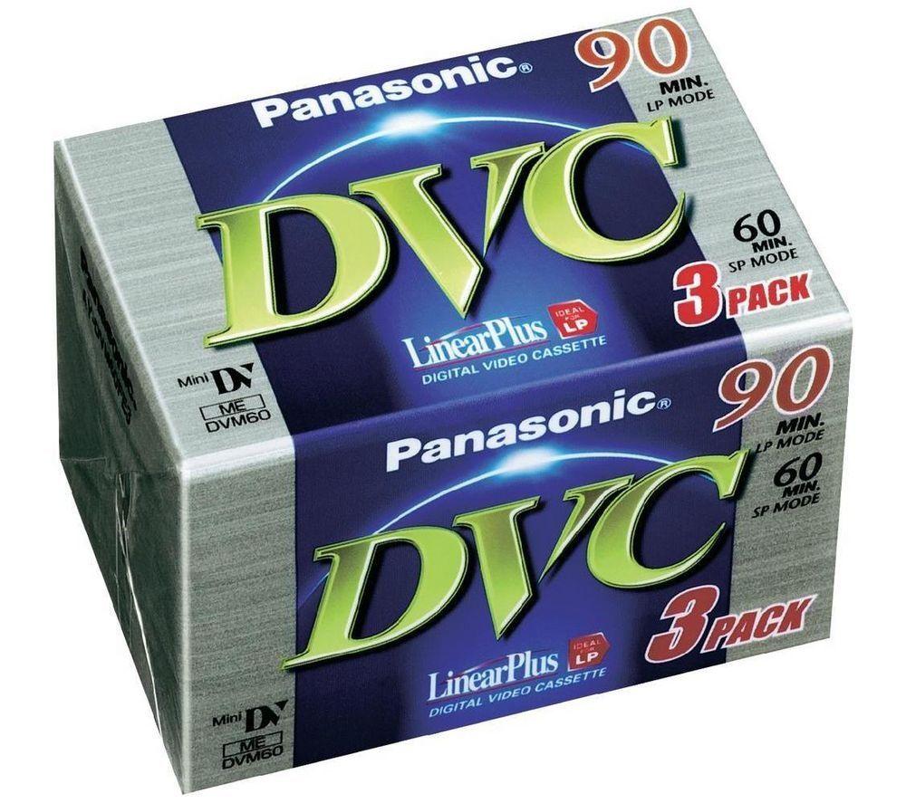 PANASONIC AY-DVM60FE3 LinearPlus MiniDV Tape - 3 Pack