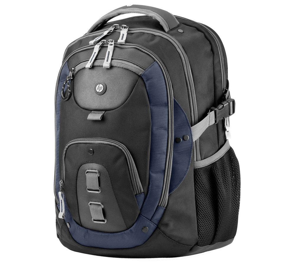 """HP Premier 3 15.6"""" Laptop Backpack  Black & Blue Black"""