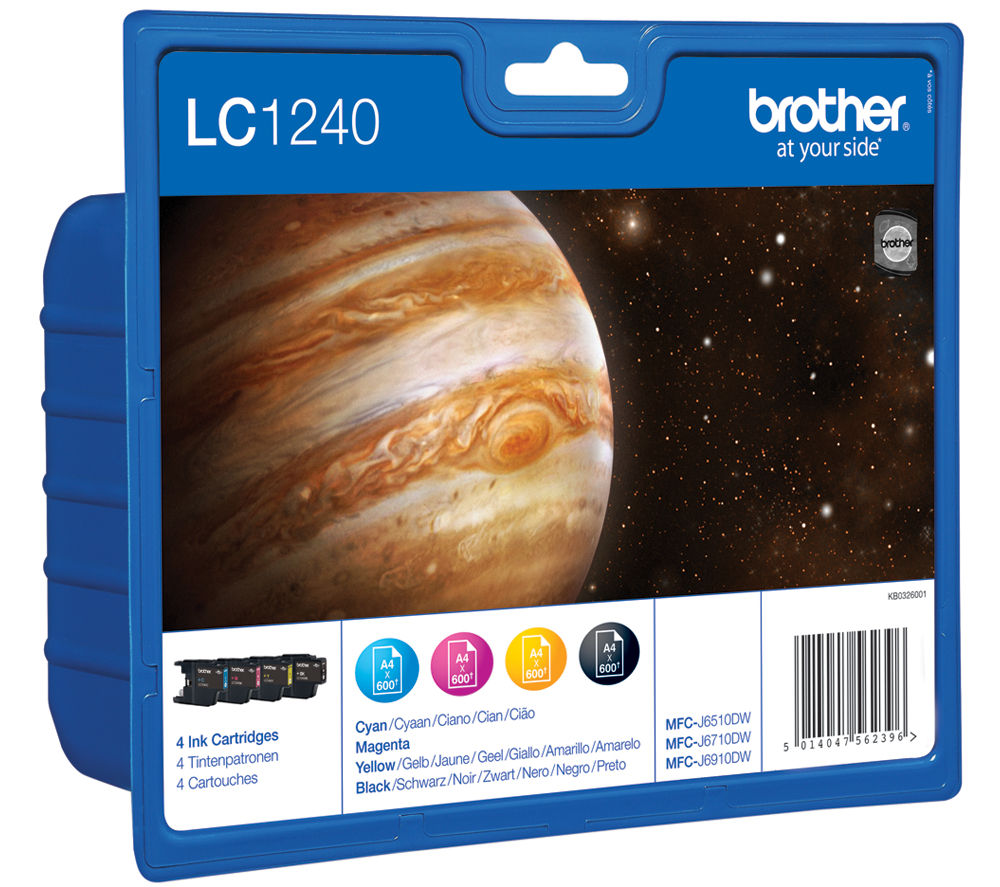 BROTHER LC1240VALBPRF Cyan, Magenta, Yellow & Black Ink Cartridges - Multipack