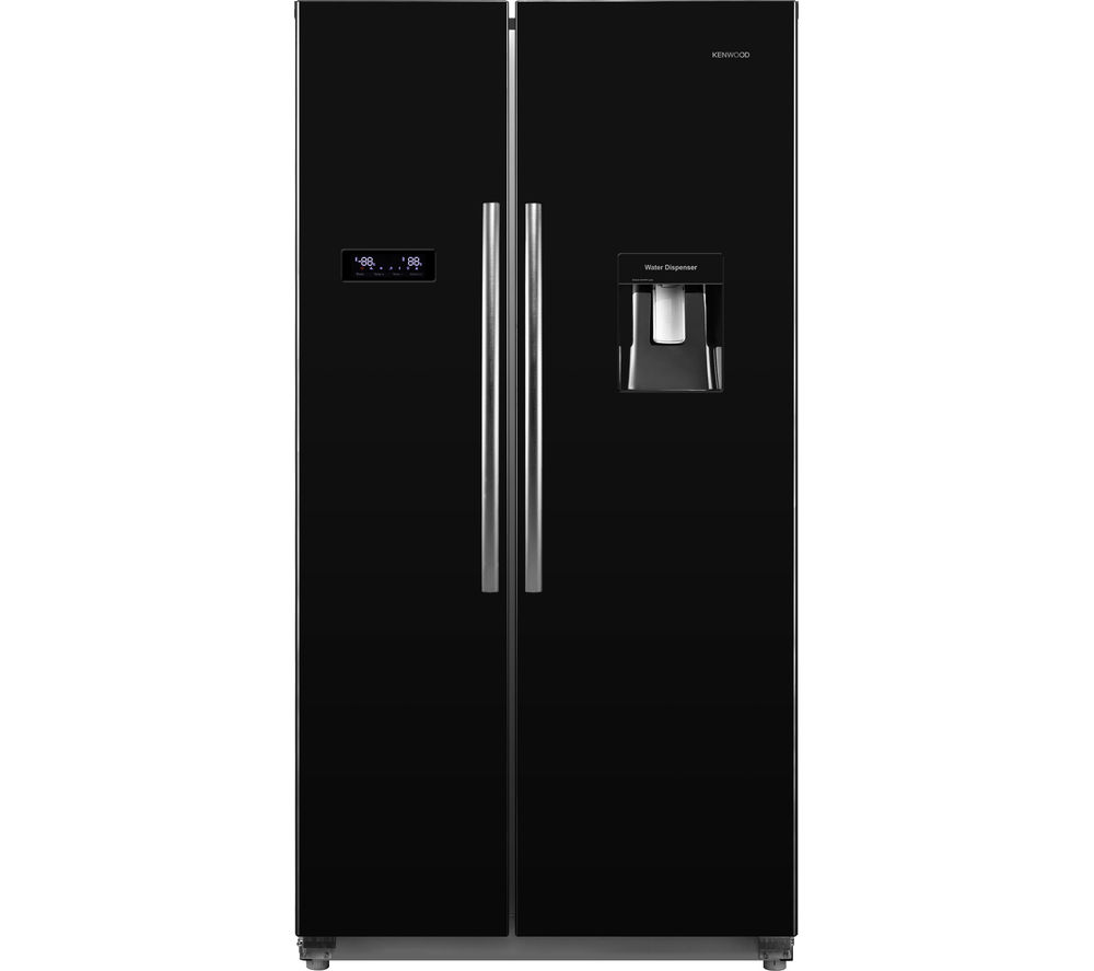 KENWOOD KSBSDB15 American-Style Fridge Freezer - Black