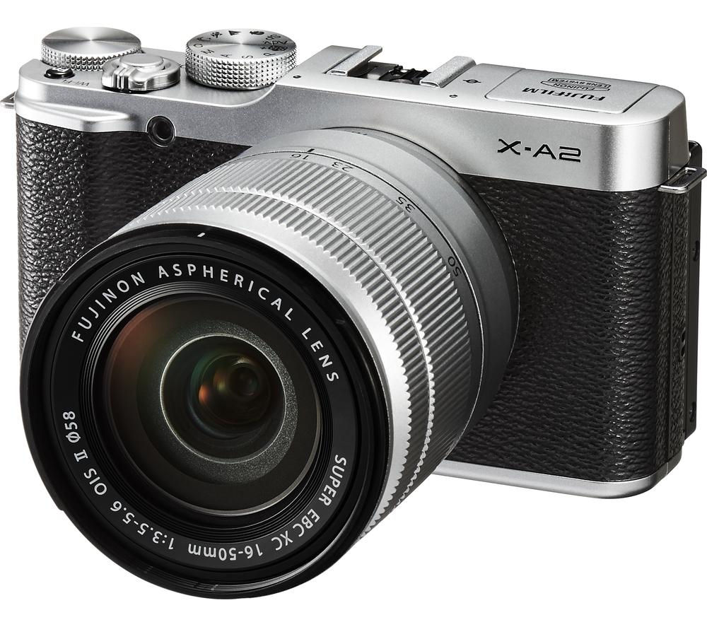 Fujifilm X-A2 Compact System Camera with XC 16-50 mm f/3.5-5.6 Zoom Lens - Silver, Silver