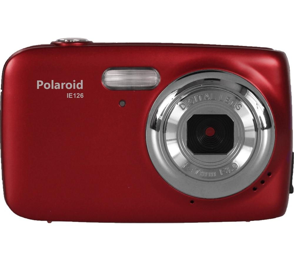 Polaroid IE126 18MPMP 720p Digital Camera with 4x Optical Zoom (Red)