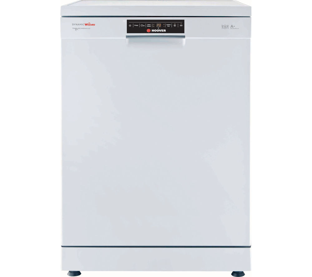 HOOVER Wizard DYM762TWIFI Full-size Smart Dishwasher - White