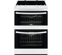ZANUSSI ZCV66030WA 60 cm Electric Ceramic Cooker - White & Black