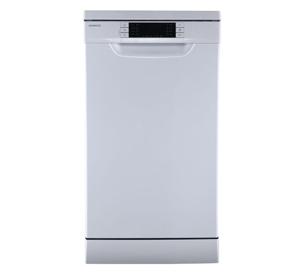 Slimline Kitchen Appliances Buy Kenwood Kdw45w16 Slimline Dishwasher White Free Delivery