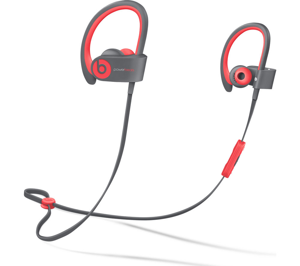 BEATS BY DR DRE Powerbeats² Wireless Bluetooth Headphones - Active Collection, Red