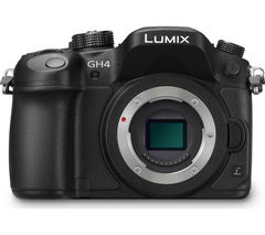 PANASONIC Lumix DMC-GH4RE-K Compact System Camera - Black, Body Only