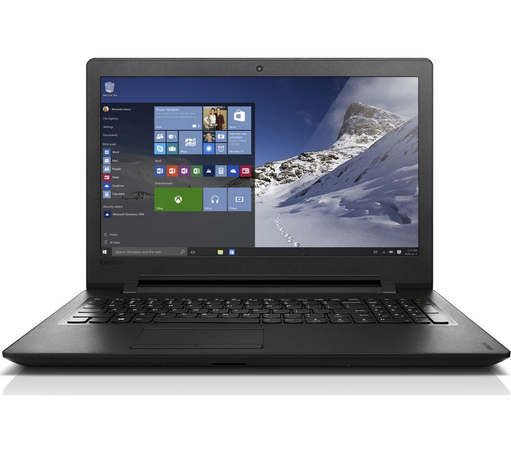 "LENOVO IdeaPad 110 15.6"" Laptop - Black + Office 365 Personal + LiveSafe Unlimited 2017 - 1 year"