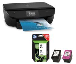 HP Envy 5640 All-in-One Wireless Printer with Black & Tri-colour Ink Cartridges Bundle