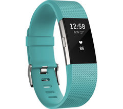 FITBIT Charge 2 - Teal, Large