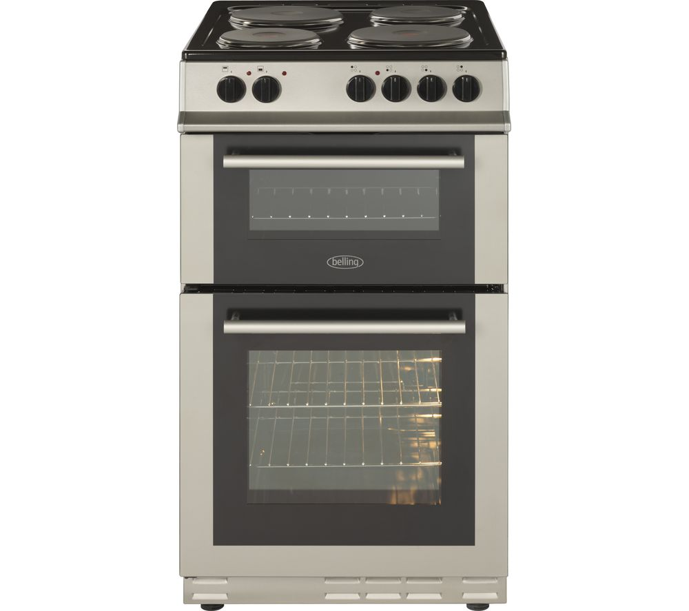BELLING FS50ET 50 cm Electric Solid Plate Cooker - Silver