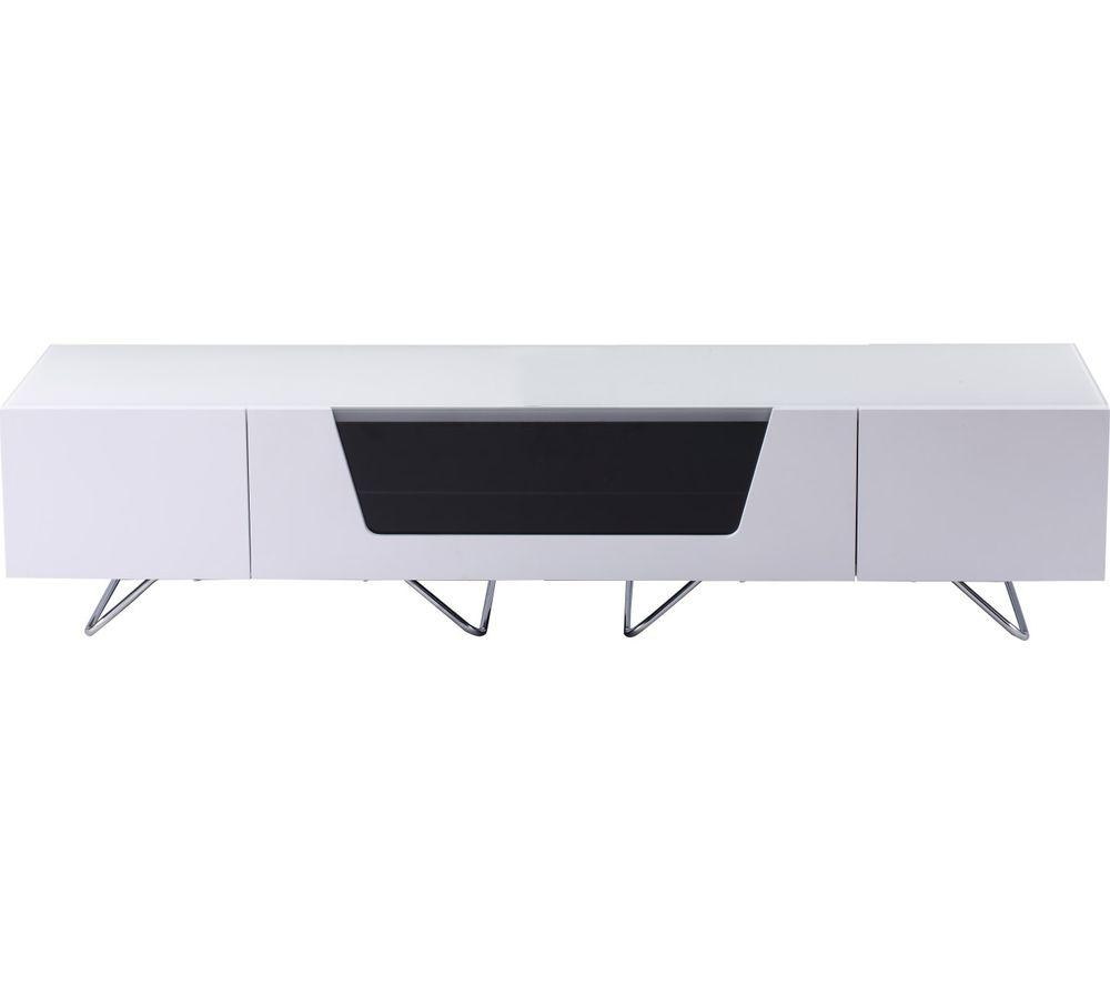 ALPHASON  Chromium 2 1600 TV Stand  White White