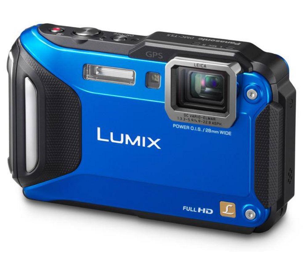 PANASONIC  Lumix DMCFT5 Tough Compact Camera  Blue Blue