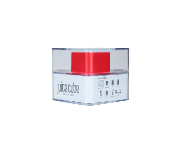 Juice Red Cube Charger, Red