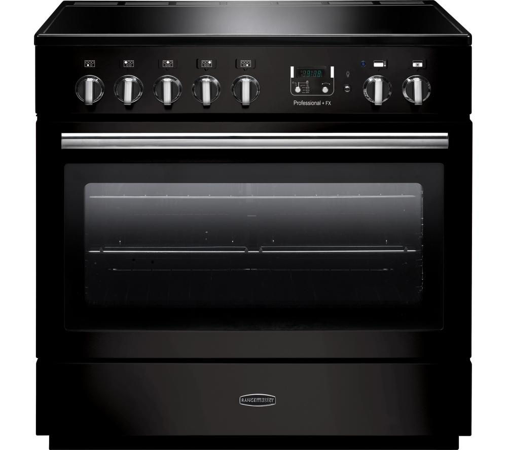 RANGEMASTER  Professional FX 90 Electric Induction Range Cooker  Gloss Black & Chrome Black