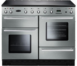 RANGEMASTER Toledo 110 Electric Ceramic Range Cooker - Stainless Steel & Chrome