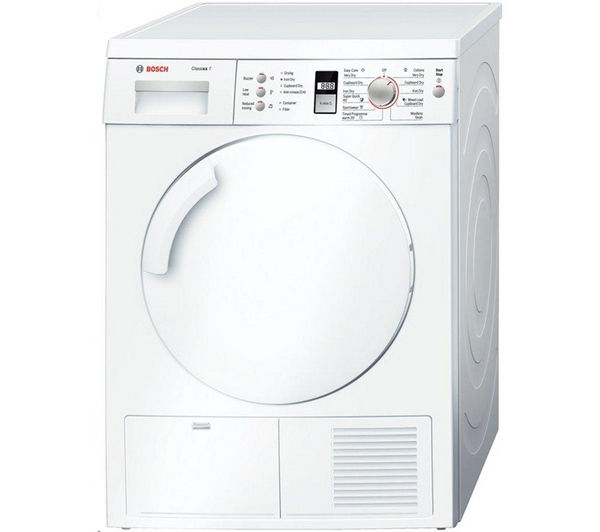 Bosch WTE84301GB Condenser Tumble Dryer - White, White