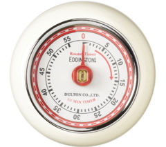 EDDINGTONS Retro Magnetic Kitchen Timer - Ivory
