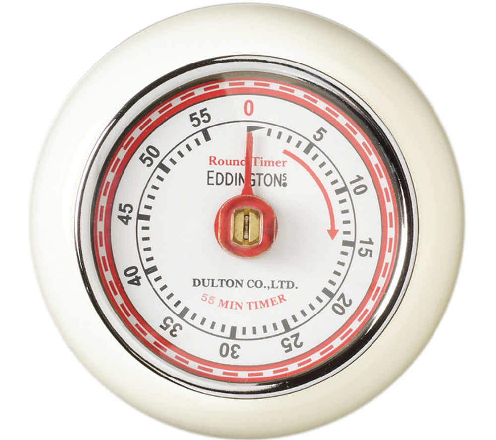 EDDINGTONS Retro Magnetic Kitchen Timer - Ivory