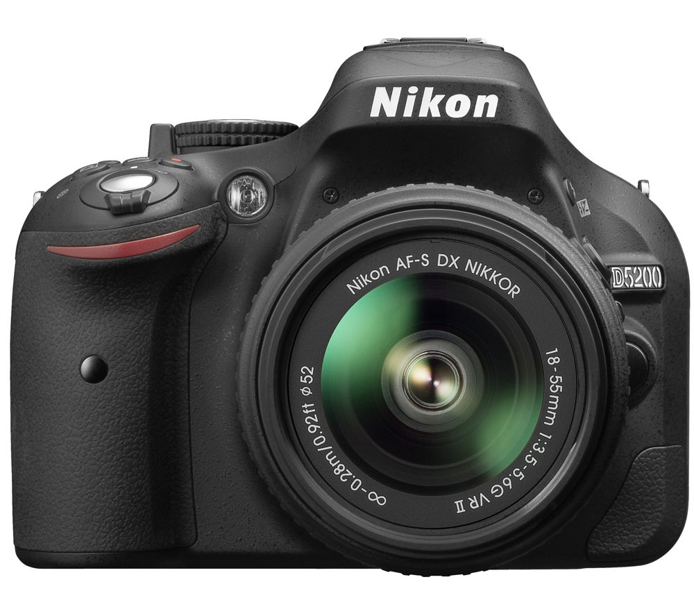 NIKON D5200 DSLR Camera with 18-55 mm f/3.5-5.6 VR II Zoom Lens