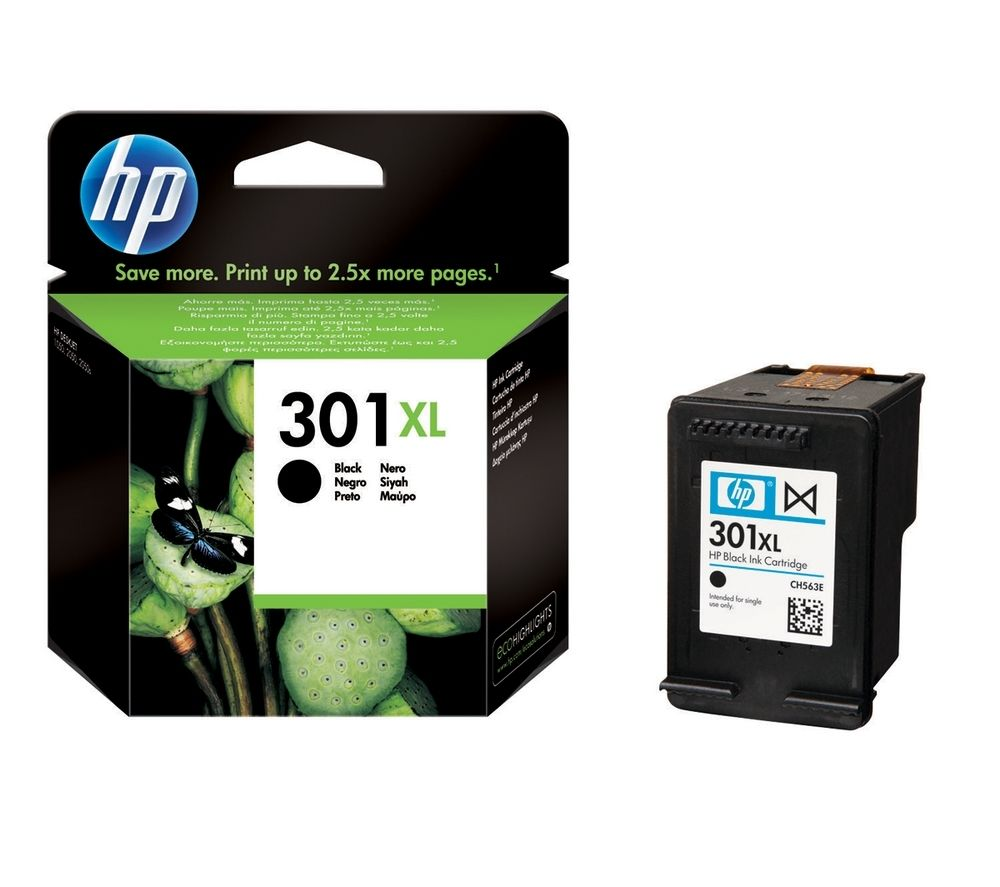 hp 301xl black ink cartridge deals pc world. Black Bedroom Furniture Sets. Home Design Ideas