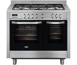 ZANUSSI ZCK18307XA Dual Fuel Range Cooker - Stainless Steel