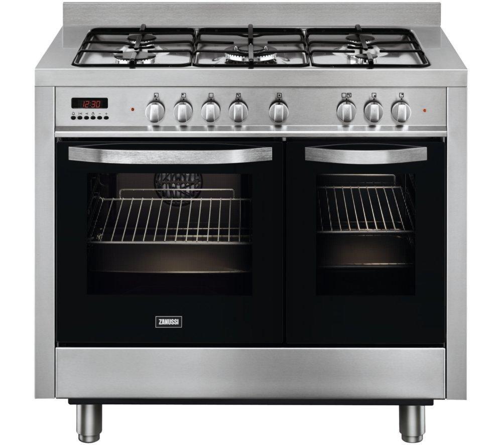 Dual Fuel Oven ~ Buy zanussi zck xa dual fuel range cooker stainless