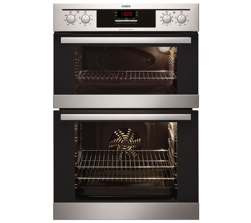 buy aeg dc4013021m electric double oven stainless steel. Black Bedroom Furniture Sets. Home Design Ideas