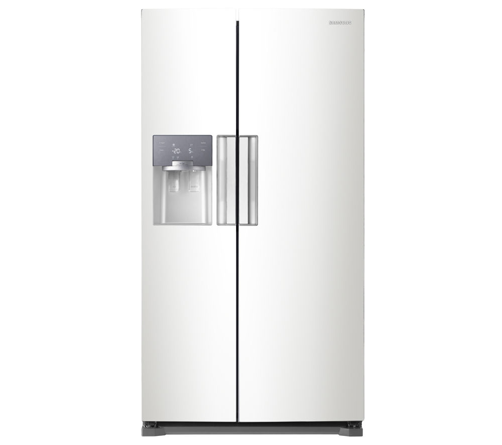White gloss american fridge freezer