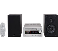 JVC UX-D100 Wireless Traditional Hi-Fi System - Titanium & Black