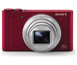 SONY Cyber-shot DSC-WX500R Superzoom Compact Camera - Red