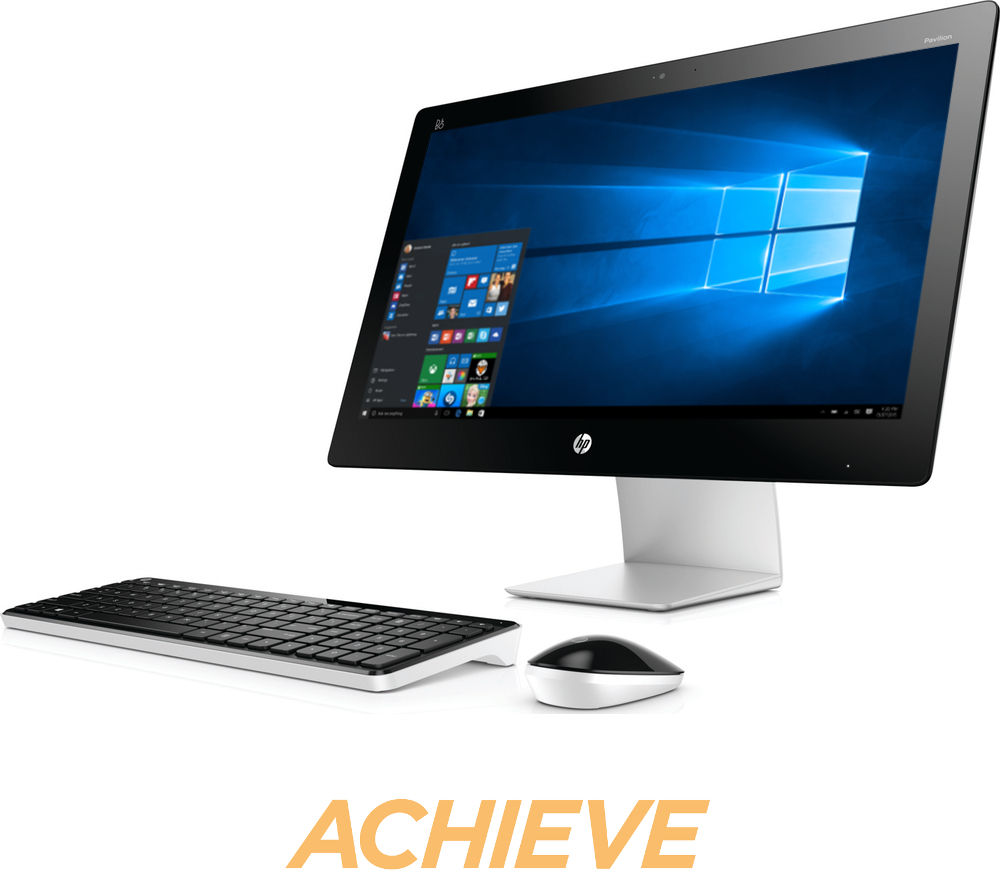 buy hp pavilion 23 q105na touchscreen all in one pc free delivery currys. Black Bedroom Furniture Sets. Home Design Ideas
