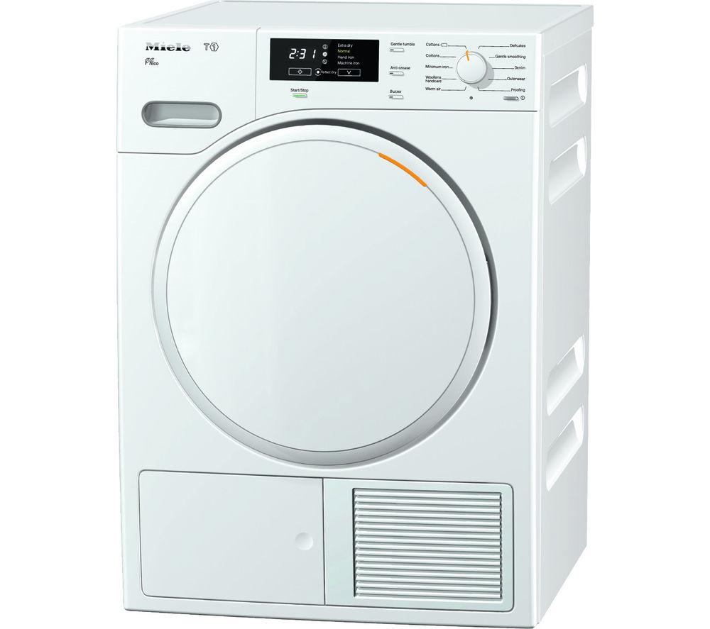 Image of Miele TMB540 Heat Pump Tumble Dryer - Lotus White, White