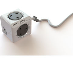 ALLOCACOC Powercube 4-Socket Extension Cable with USB - 1.5 m