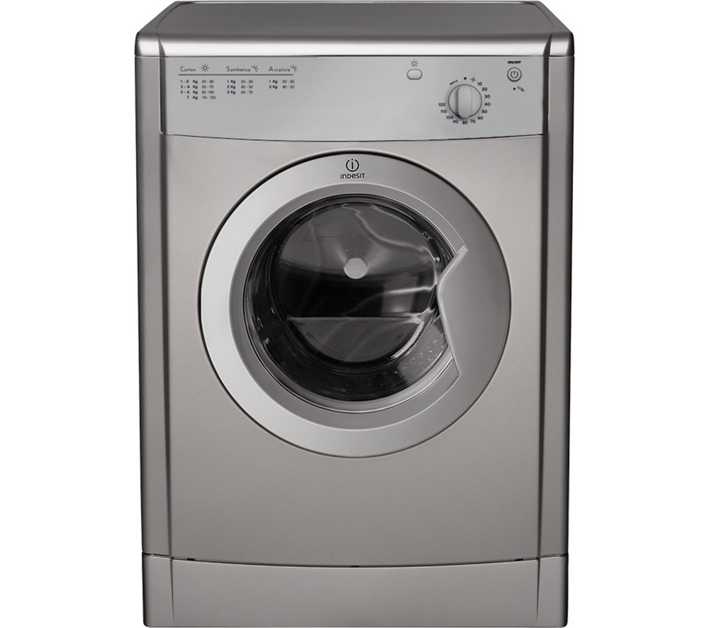 INDESIT Ecotime IDV75S Vented Tumble Dryer - Silver